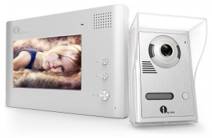 1byone 7 Color LCD Wired Video Doorbell