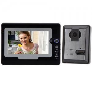 Docooler 7 TFT Color LCD Display Video Door Phone Visual Intercom Doorbell Hands Free IR Night Vision