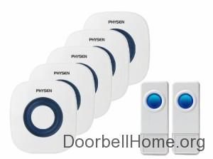 Physen® Waterproof Wireless Doorbell Kit on Amazon