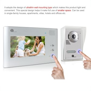 1byone 7 Inch Video Doorbell with LCD screen