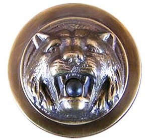 Vintage Style Lion Pushbutton Doorbell (ZLW-132GR)