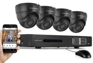 Amcrest 720P HD Over Analog (Tribrid HDCVI-IP) 4CH Video Security System