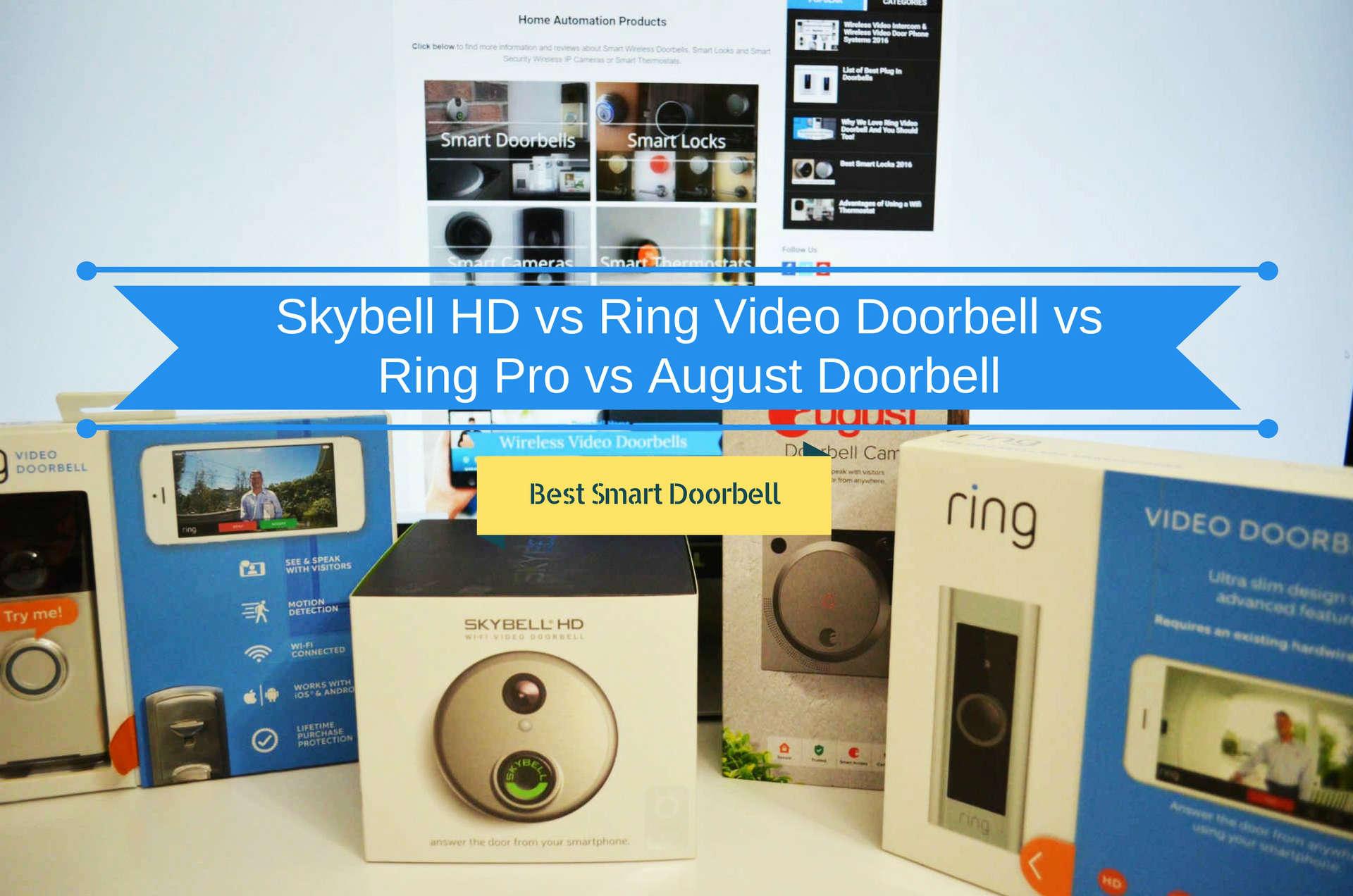 Skybell HD vs Ring Video Doorbell vs Ring Pro vs August Doorbell - Best Smart Doorbell